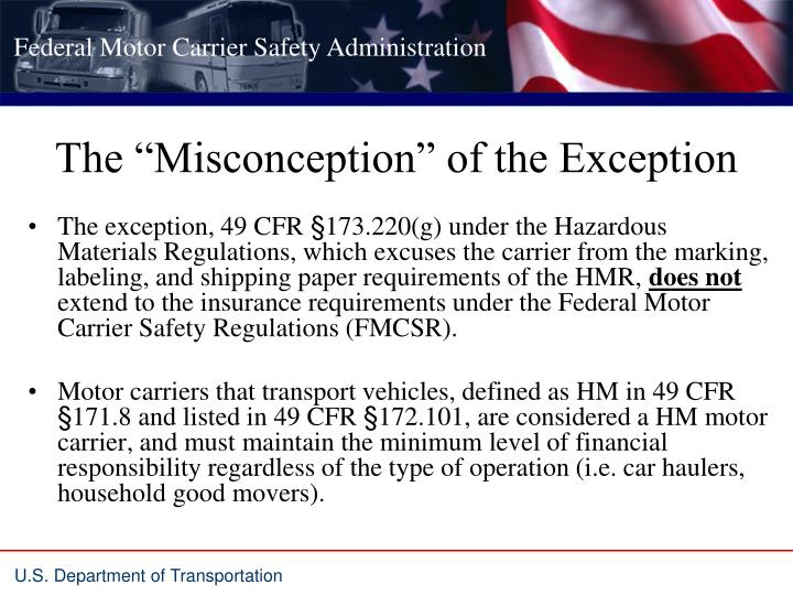 """The """"Misconception"""" of the Exception"""