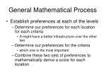 general mathematical process