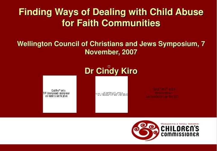 Finding Ways of Dealing with Child Abuse for Faith Communities