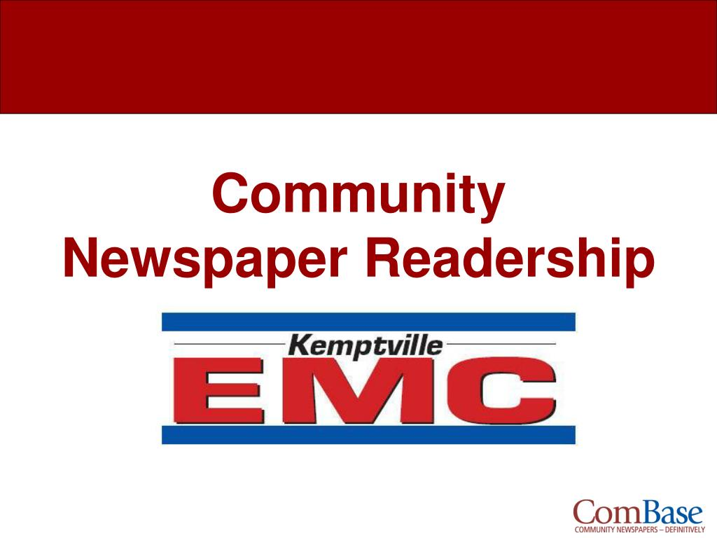 community newspaper readership l.