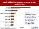 media habits newspaper vs radio kemptville on