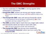 the emc strengths