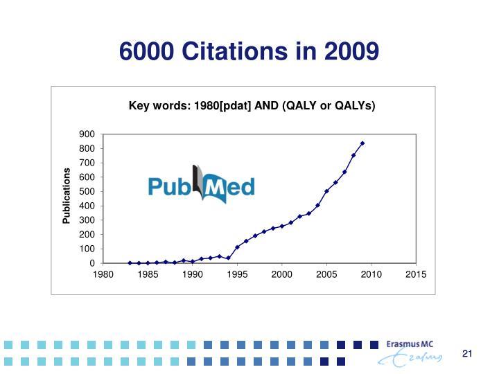 6000 Citations in 2009