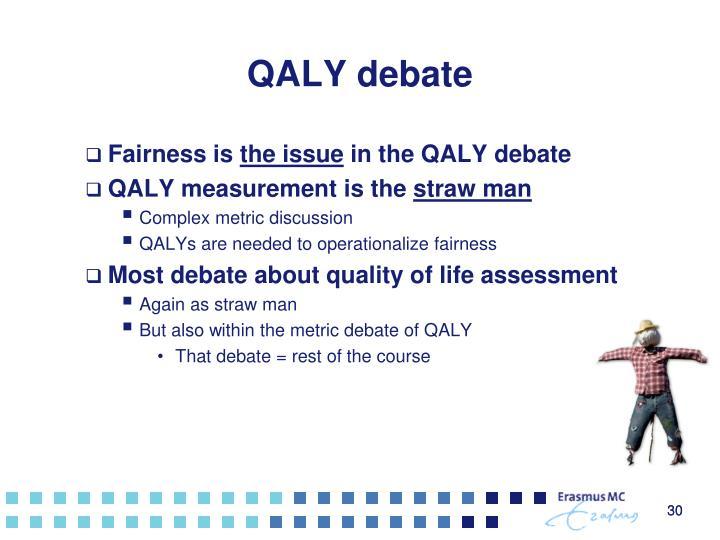 QALY debate
