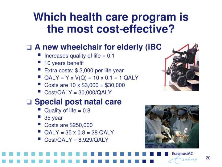 Which health care program is the most cost-effective?
