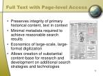 full text with page level access