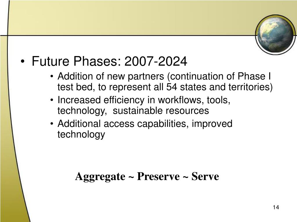Future Phases: 2007-2024