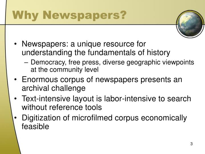 Why newspapers