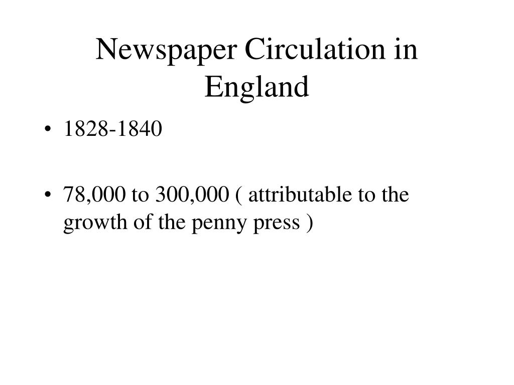 Newspaper Circulation in England
