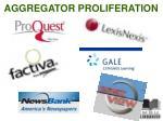 aggregator proliferation
