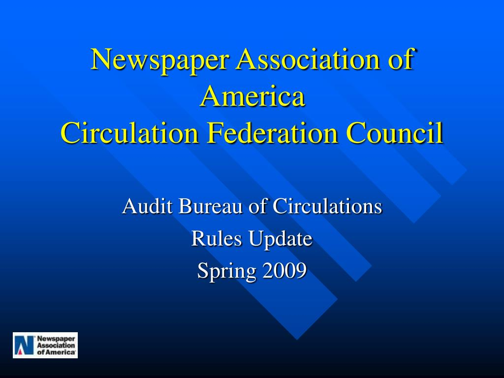 newspaper association of america circulation federation council l.