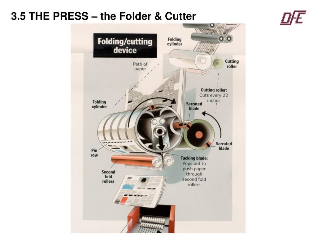 3.5 THE PRESS – the Folder & Cutter