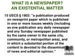 what is a newspaper an existential matter