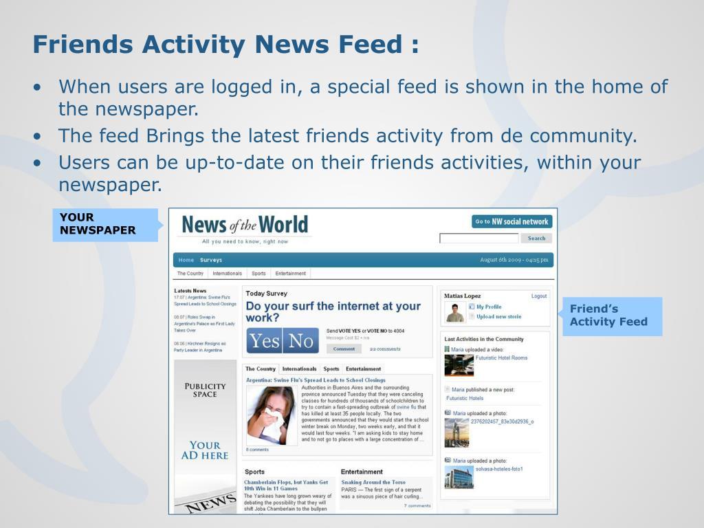 Friends Activity News
