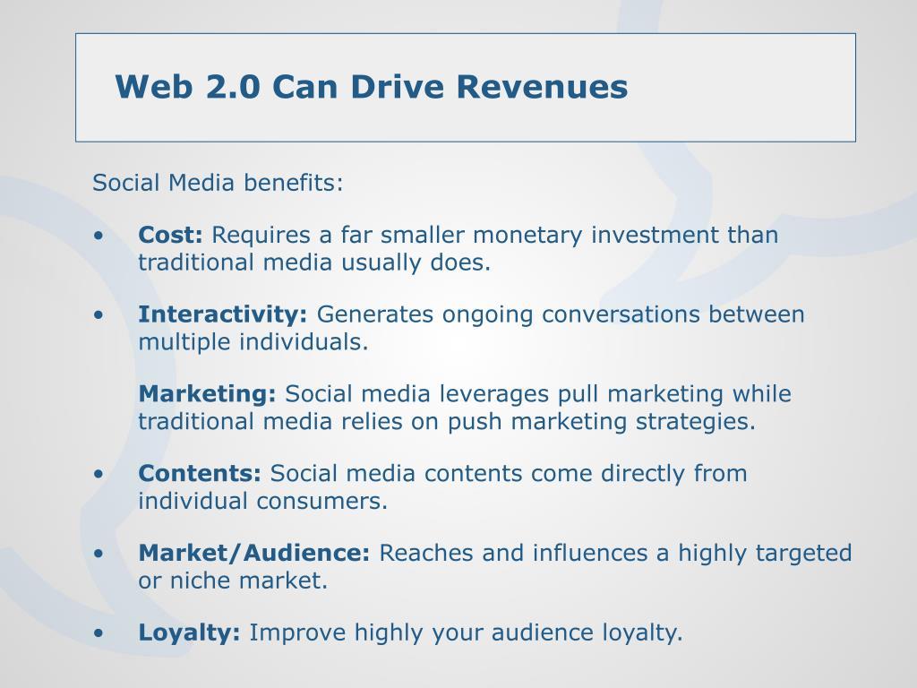 Social Media benefits: