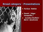 broad category presentations