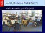 access newspapers reading room 1