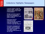 collections highlights newspapers