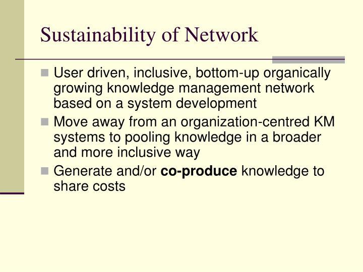 Sustainability of Network