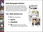 daily newspaper sections