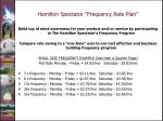 hamilton spectator frequency rate plan