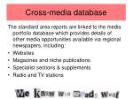 cross media database