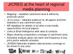 jicreg at the heart of regional media planning