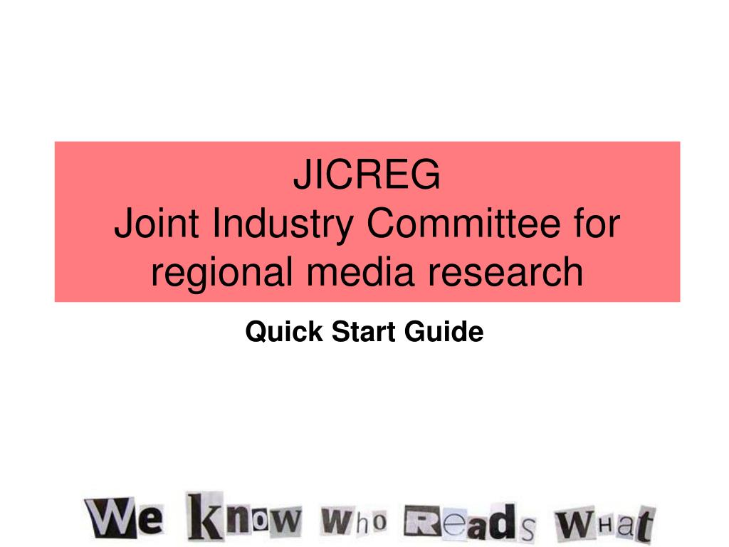 jicreg joint industry committee for regional media research l.