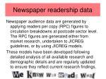 newspaper readership data