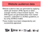 website audience data