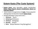 sistem kasta the caste system