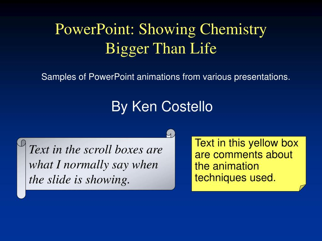 powerpoint showing chemistry bigger than life l.