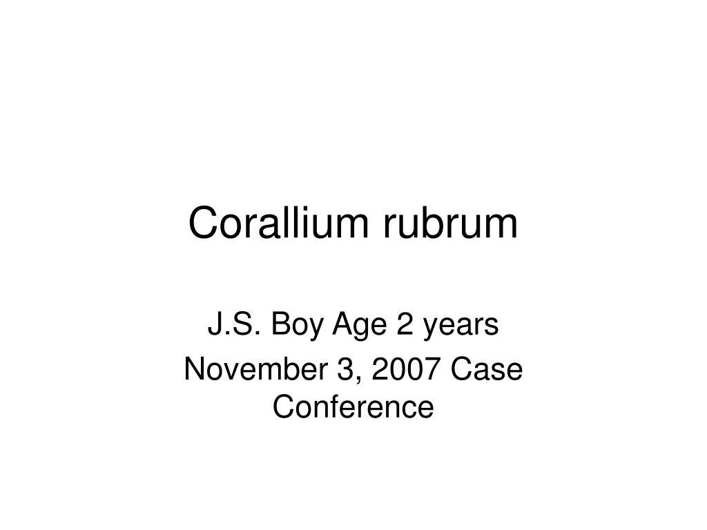 corallium rubrum l.