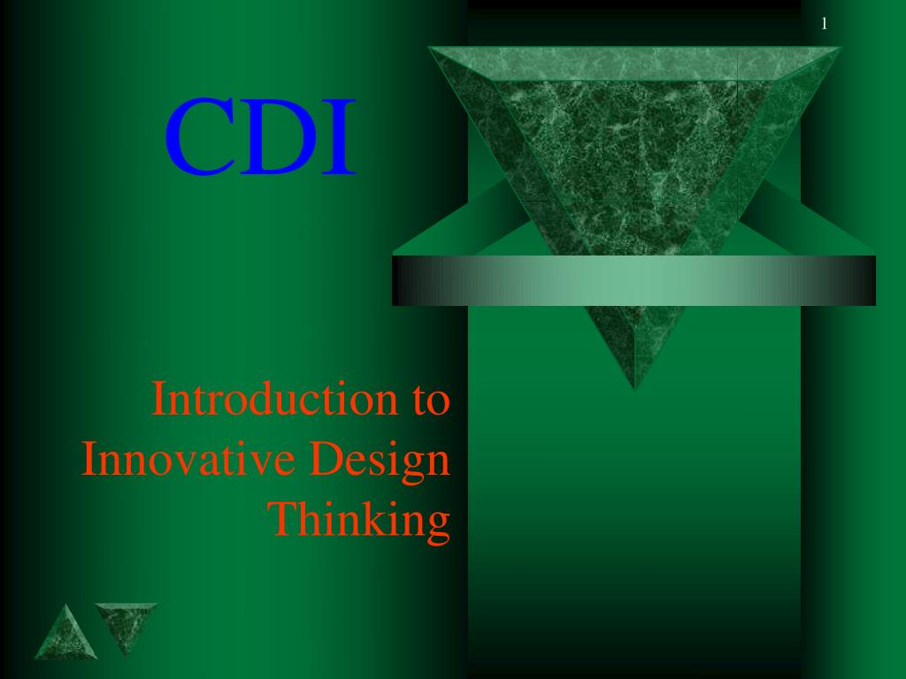 introduction to innovative design thinking l.