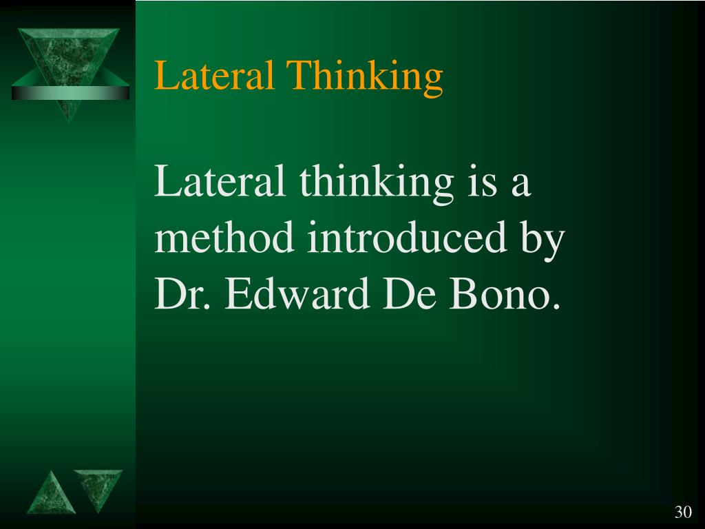 lateral thinking Synonyms for lateral thinking at thesauruscom with free online thesaurus, antonyms, and definitions dictionary and word of the day.