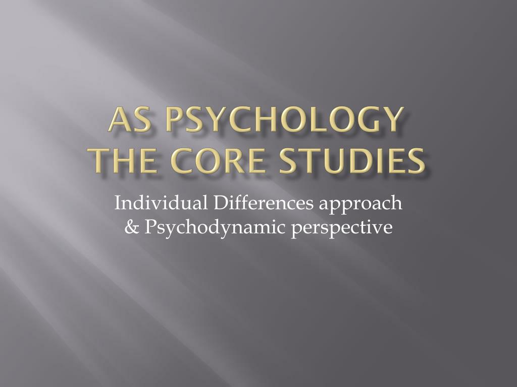 as psychology the core studies l.