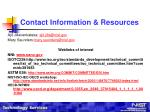 contact information resources