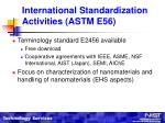 international standardization activities astm e568