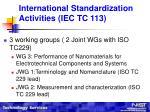 international standardization activities iec tc 11311