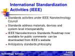 international standardization activities ieee