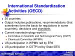 international standardization activities oecd