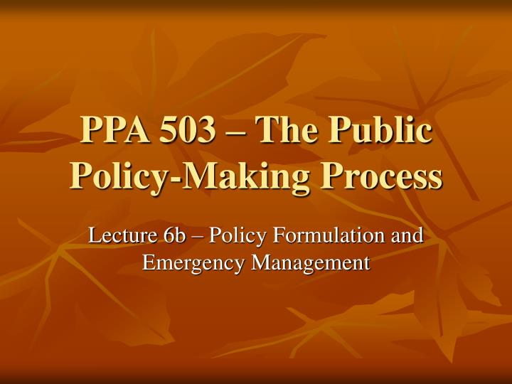 ppa 503 the public policy making process n.