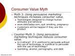 consumer value myth