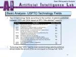 basic analysis uspto technology fields40