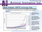 basic analysis uspto technology fields41