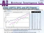 data uspto epo and jpo patents