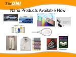 nano products available now
