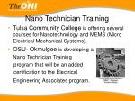 nano technician training