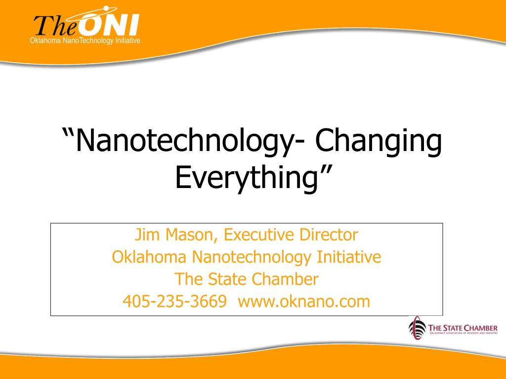 nanotechnology changing everything l.