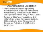 oklahoma nano legislation